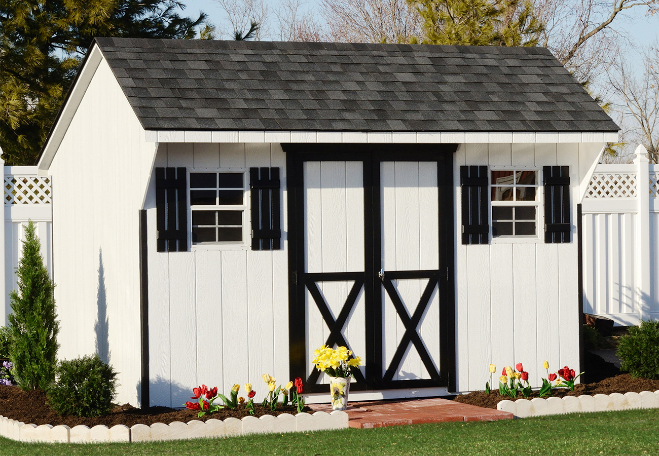 a gallery of backyard storage sheds of all shapes and sizes