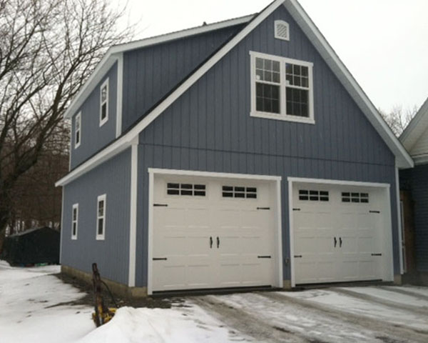Two story two car garage 24 39 x28 39 built to order in for Double story garage