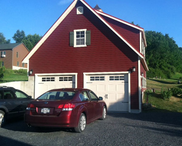 Two Story Two Car Garage