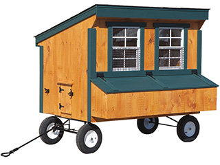 Chicken Coop on wheels with handle