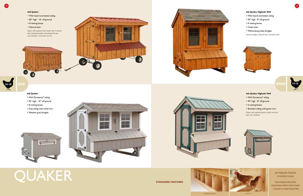 Quaker-Style Chicken Coops
