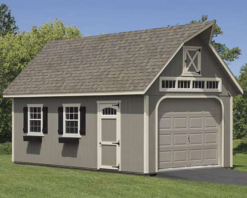 Garages single story and two story for one car or two cars for Two story car garage