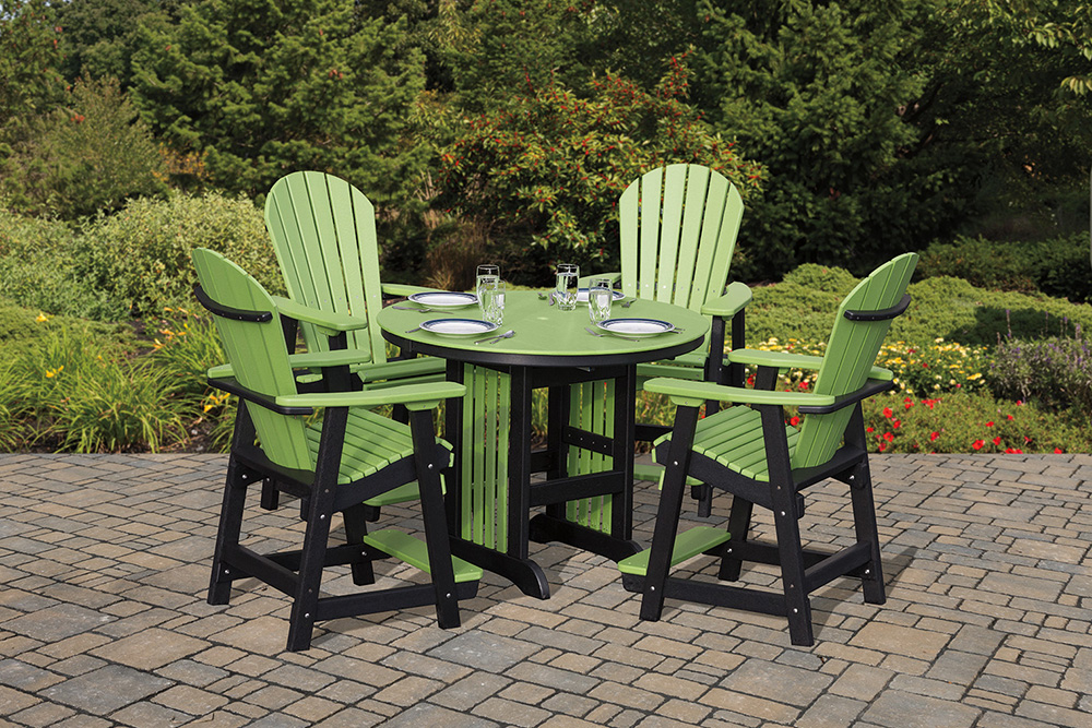 outdoor furniture arbors footbridges tables chairs wood and poly