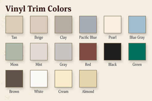 Vinyl Shed Trim Colors