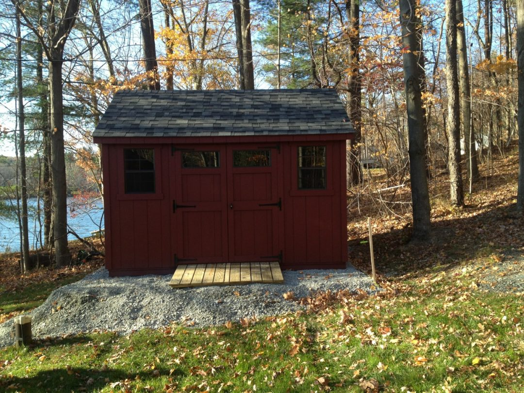 10x12 A-Frame Shed delivered FREE to Averill Park, NY - Shed Man, Inc.