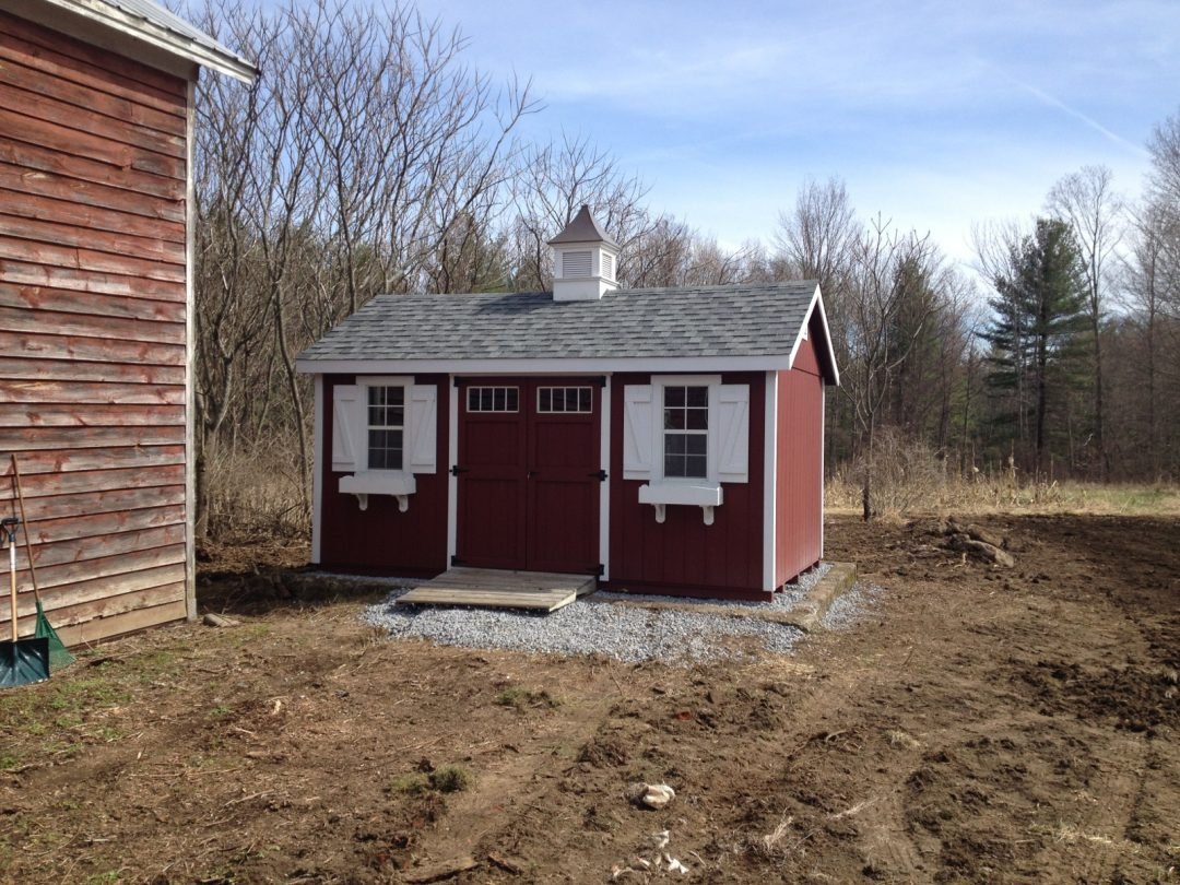 10x16 Patriot A-Frame Delivered to Amsterdam N.Y. - Shed Man, Inc.