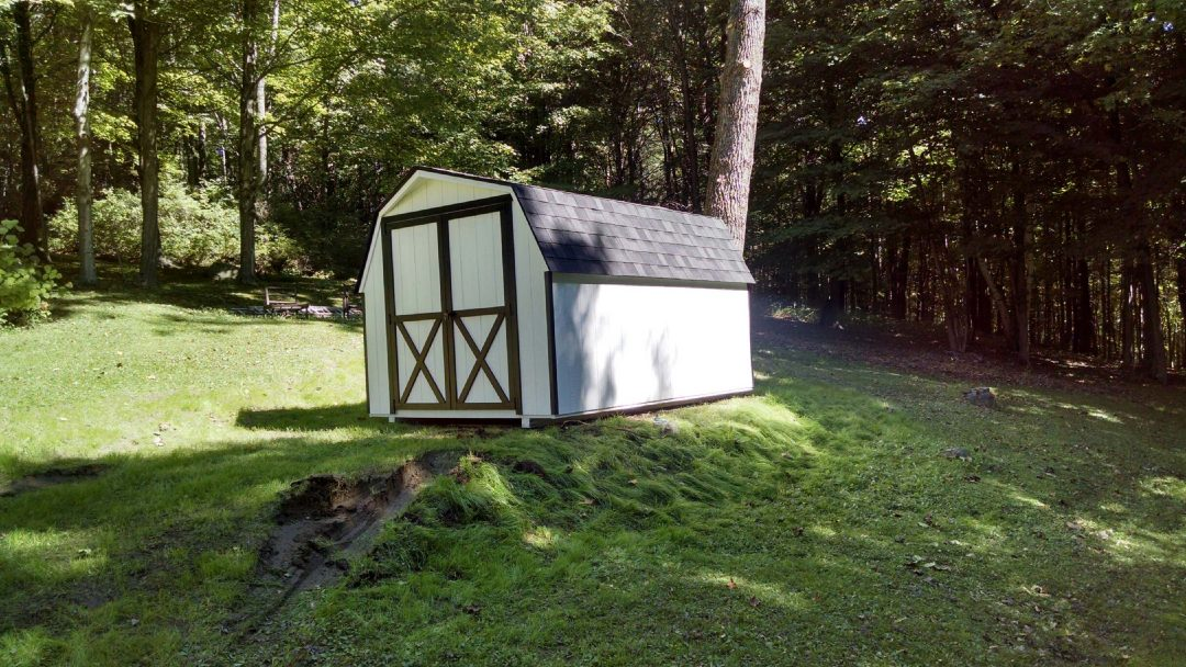8x12 mini barn delivered to Stamford, VT