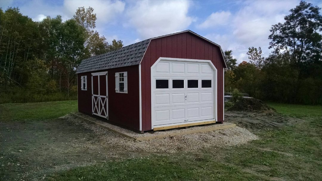 12 X24 Dutch Garage Delivered To Pittsfield Ma Shed