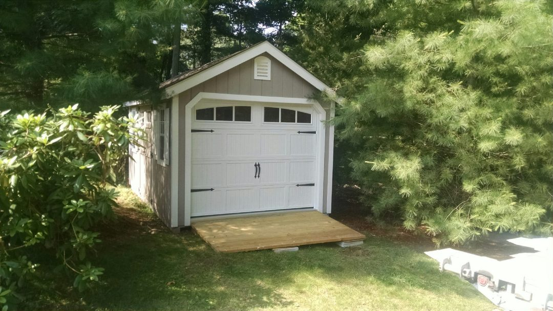 10\'x16\' A-Frame Garage Delivered to Darien, CT - Shed Man, Inc.