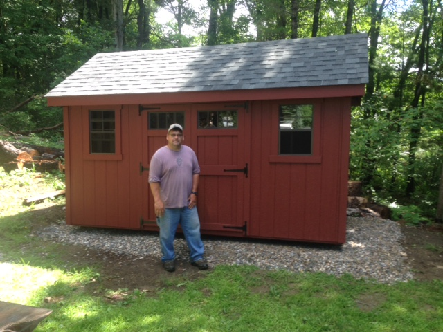 8 x14 a frame delivered to west sand lake ny shed man inc