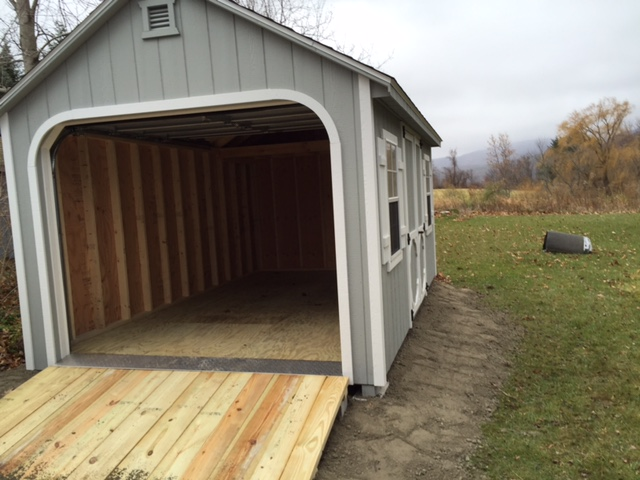 10 20 Garage Shed : X a frame garage shed man inc