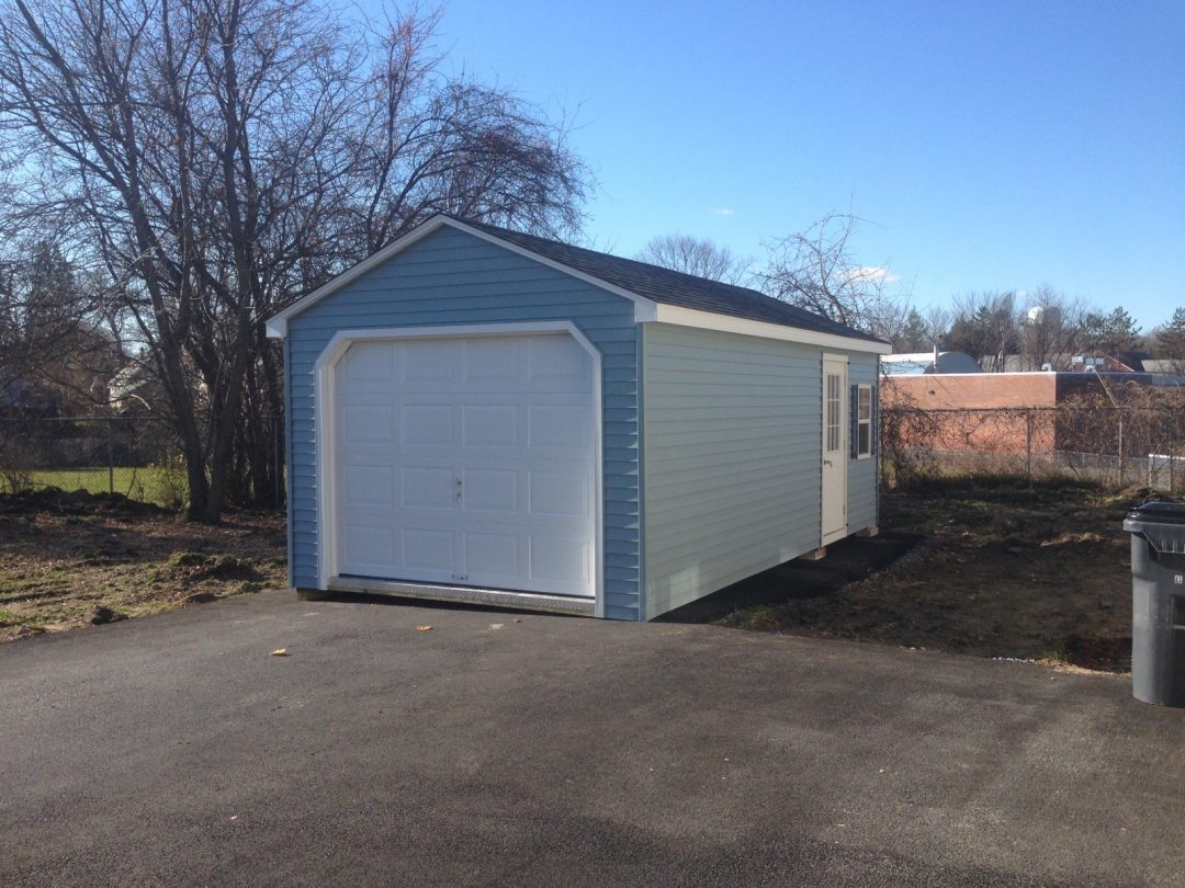 Garden Sheds Albany Ny 12'x24' vinyl a-frame garage delivered to albany, ny - shed man, inc.