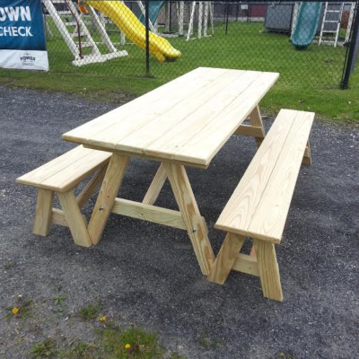 6' With Benches
