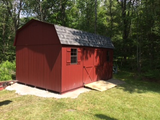 12 39 x16 39 dutch barn style shed delivered to stephentown ny for Dutch style barn